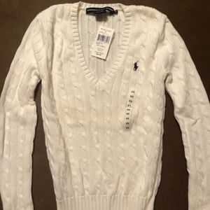 Ralph Lauren white sweater XS